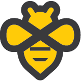 Beeminder logo (a bee symbol with an infinity shape)